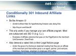conditionally 301 inbound affiliate links