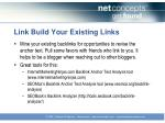 link build your existing links