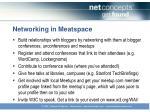 networking in meatspace