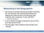 networking in the blogosphere1