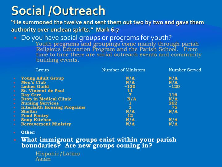 Social /Outreach