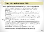 other reforms impacting fmis