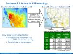 southwest u s is ideal for csp technology