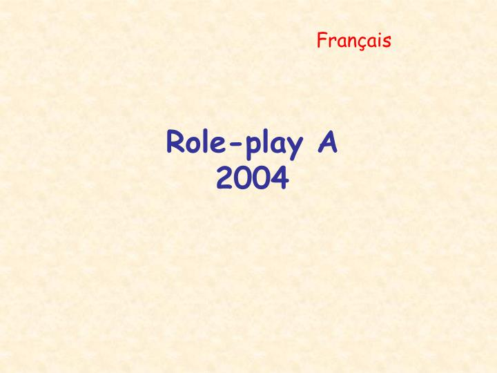 role play a 2004 n.
