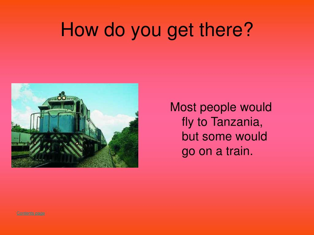 How do you get there?