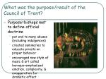 what was the purpose result of the council of trent