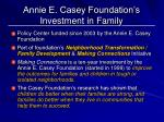 annie e casey foundation s investment in family