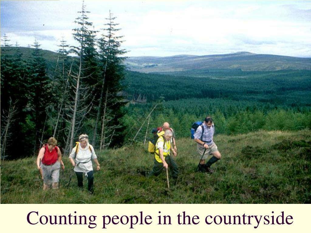 Counting people in the countryside