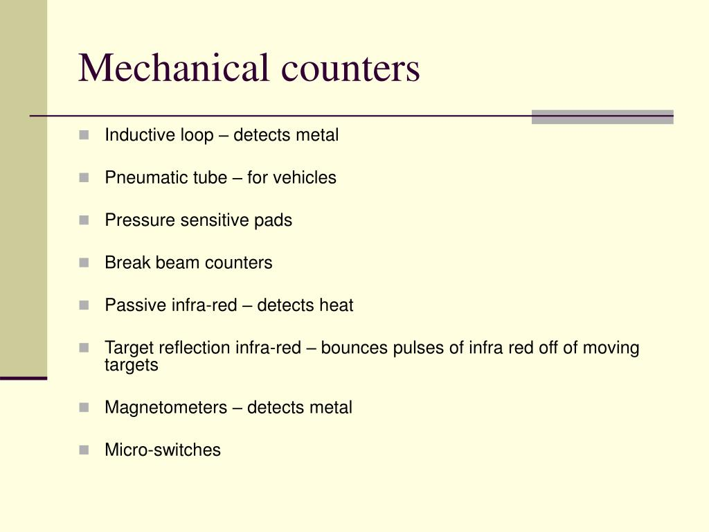 Mechanical counters