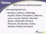 2013 survey administration