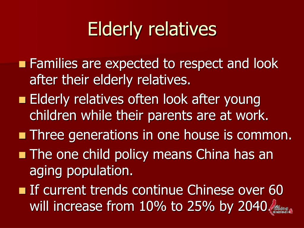 Elderly relatives
