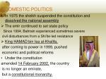 6 domestic politics