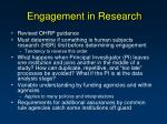 engagement in research