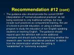 recommendation 12 cont2