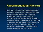 recommendation 15 cont1