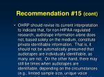 recommendation 15 cont2