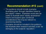 recommendation 15 cont3