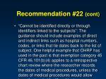 recommendation 22 cont3