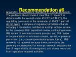 recommendation 6