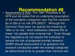 recommendation 8