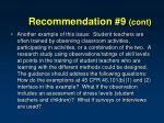 recommendation 9 cont1
