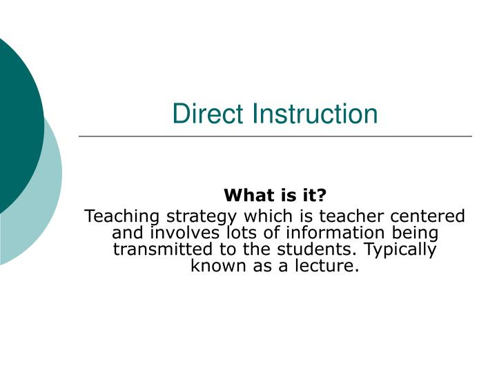 direct instruction n.