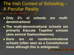 the irish context of schooling a peculiar reality1