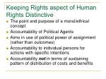 keeping rights aspect of human rights distinctive