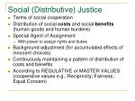 social distributive justice