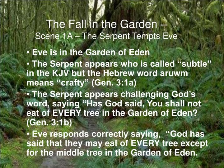 Ppt The Fall In The Garden Genesis Chapter 3 Powerpoint Presentation Id 1170707