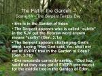 the fall in the garden scene 1a the serpent tempts eve