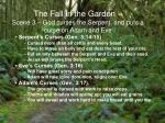 the fall in the garden scene 3 god curses the serpent and puts a curse on adam and eve