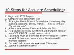 10 steps for accurate scheduling
