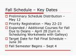 fall schedule key dates