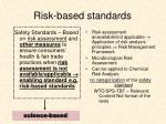 risk based standards