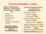wto sps agreement codex