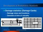 development of probabilistic standards