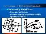 development of probabilistic standards1