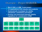overview project harder