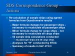 sds correspondence group actions1