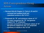 sds correspondence group actions2