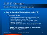 slf 47 outcome sds working group actions2