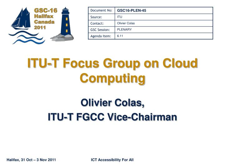 itu t focus group on cloud computing n.