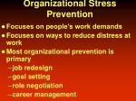 organizational stress prevention