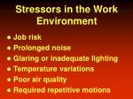 stressors in the work environment
