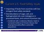 current u s food safety issues