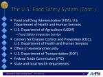 the u s food safety system cont