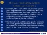 the u s food safety system federal level cont5