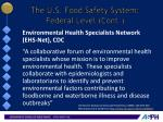 the u s food safety system federal level cont7