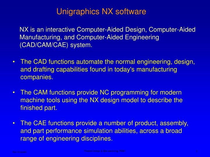 PPT - The CAD functions automate the normal engineering